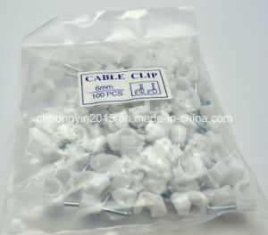 6mm C Type Electrical Wire Plastic Cable Clips