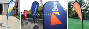 2017 Outdoor Feather Flag Advertising Polyester Fabric Material Flying Beach Banner pictures & photos