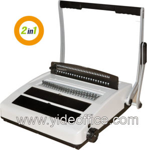 A4 Size Wire 2: 1 and Wire 3: 1 2-in-1 Binding Machine (WW2919) pictures & photos