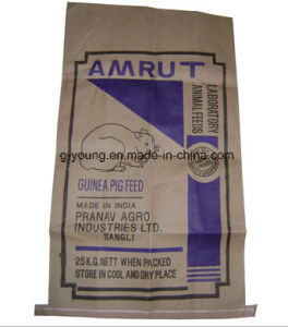 Laminated PP Woven Kraft Paper Bag for Agriculture