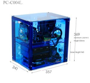 Qdiy PC C004L Can Install 320mm Graphics Card Transparent Chassis Acrylic Personalized Water Cooled Computer