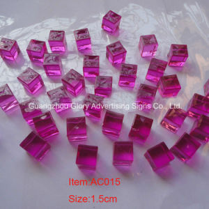 Wholesale Colored Acrylic Ice Cubes, Ruby Red