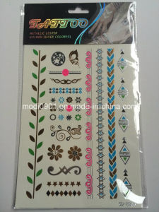 Gold and Silver Metallic Temporary Tattoo with Kinds