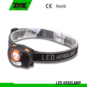2 Watt LED +4LED Plastic Headlamp (8731)