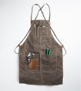 Custom Waxed Canvas Apron Utility Apron for Garden and Work
