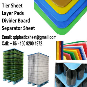 Corrugated Plastic Layer Pads, PP Layer Pads, Divider Boards, Separator Sheets