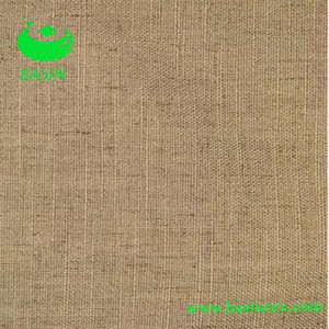 Soft Natural Color Linen Blend Drapery with Needle Punch and Backing