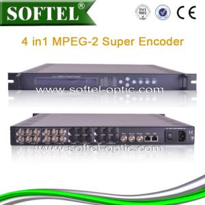 MPEG-2 4 in 1 Super Encoder, 4 Cvbs to IP Encoder pictures & photos