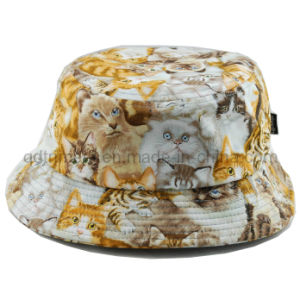 Animal Print Plain Cloth Woman Leisure Bucket Hat (TRTBH13030) pictures & photos