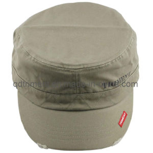 Grinding Washed Print Leisure Sports Military Cap (TMM8150) pictures & photos