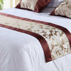100% Polyester Hotel Bedding Decoration Bed Runner (DPH7780) pictures & photos