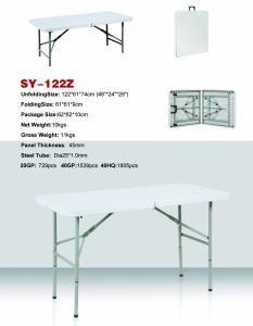 4-Foot Lifetime Fold-in-Half Table (SY-122Z) pictures & photos