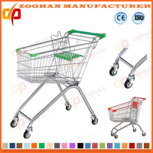 Euro Style Supermarket Store Shopping Cart Trolley (ZHt285) pictures & photos