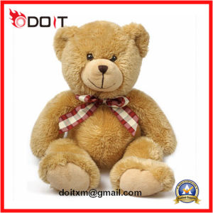 50cm Yellow Plush Teddy Bear with Hook & Loop Open Back pictures & photos