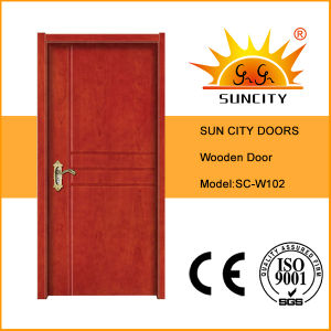 Suncity Carved Flat Panel Plywood Wooden Doors for Home (SC-W102) pictures & photos