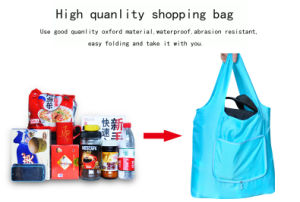 Invironmental Cotton 420d Oxford Foldable Shopping Bag Can Take More Than 20kg pictures & photos