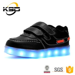 2016 New Style USB Charging Kids LED Comfort Running Shoes