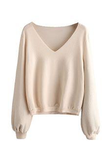 0d9318e6d52 China Deep V-Neck Ladies Women Sweater Women Knitwear - China ...