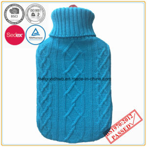 Rubber Hot Water Bottle with Knitted Cover pictures & photos