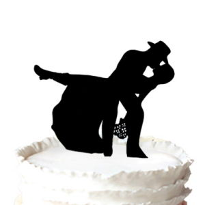 China Country Western Cow Boy Silhouette Wedding Cake Topper