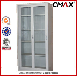 Steel Cabinet Metal Cupboard 4 Glass Doors Office Filing Cabinet Structure Customized Cmax-FC04-003 pictures & photos