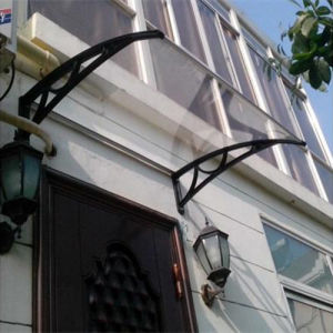 Transparent Polycarbonate Awning for Door