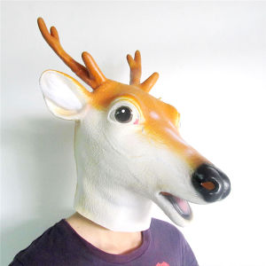 Cute Sika Deer Full Head Latex Animal Mask for Party
