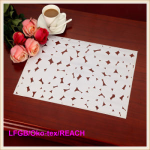 Fashion Printed PVC Lace Placemat / Crochet Doilies for Bar Mat pictures & photos
