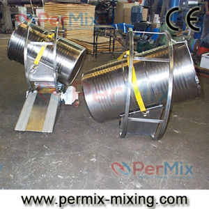China Dye Drum Hoop Mixer with Ramp, Roll-on/Roll-off System