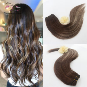 China Straight Remy Human Hair Ombre Balayage Two Tone Colored Dark