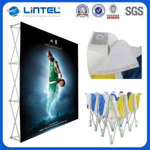 Hook & Loop Tension Fabric Booths Pop up Banner Stand (LT-09L2-A) pictures & photos