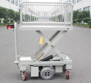 Mobile Scissor Lift Truck with One Cylinder & Wire Fence (HG-1090B)