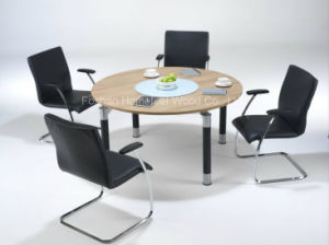 Modern Circular Meeting Room Table with Classic Solo Legs (HF-RE09) pictures & photos