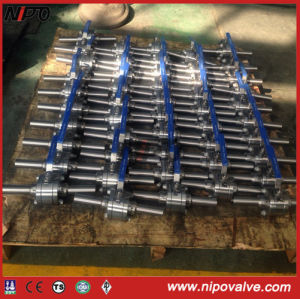 Forged Steel Thread Ball Valve with Extend Pipe pictures & photos