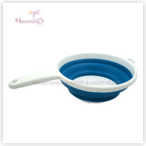 Collapsible Folding Kitchen Plastic Draining Basket Strainer pictures & photos