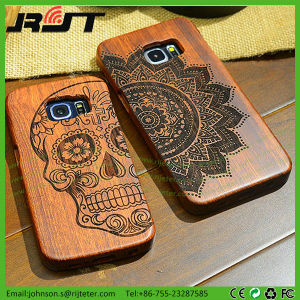 Custom Laser Engraving Wood Mobile Phone Case For Samsung Galaxy S7