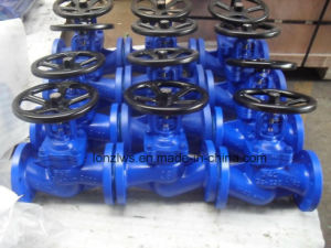 DIN Standard Cast Steel Bellow Seal Globe Valve pictures & photos