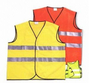 Reflective Safety Vest with Two Warning Tape pictures & photos