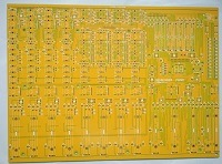 63 Mil Thickness Yellow Double Side Printed Circuits Board (PCB) with 4.7 Mil Silkscreen Line for Commercial Solution