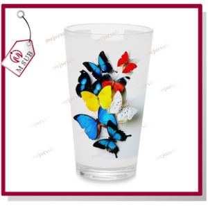 16oz Logo Printed Latte Glass Mug with Sublimation Coatings pictures & photos