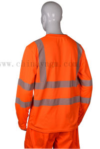 Fluorescent Polyester Safety Reflective T Shirt/Safety T Shirt pictures & photos