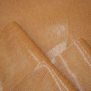 Double Color Big Lizard Grain Embossed Artificial PU Leather