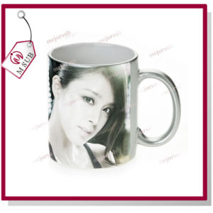 11oz Sublimation Sparkling Golden Color Mug with Photo pictures & photos