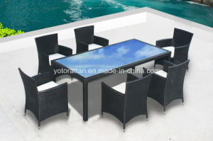 Rattan Dining Table for Outdoor with Aluminum (6212)