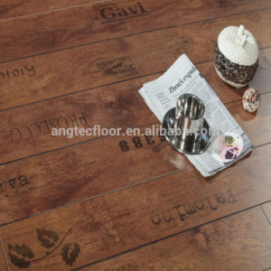 8.3mm AC4 Print Leaf Hand Letter Laminate Flooring Type Oka Engineering Flooring with CE ISO pictures & photos