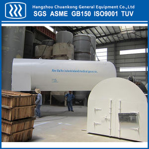 Horizontal Cryogenic Liquid Oxygen CO2 LNG Transportation Tank with Saddle pictures & photos