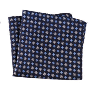 Luxury Silk Polyester Dots Plaid Flower Printed Pocket Square Hanky Handkerchief (SH-025) pictures & photos
