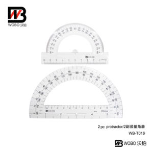 2016 New Style Plastic Protractors Ruler for Office School Stationery