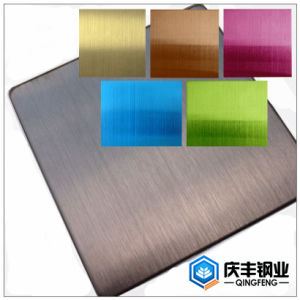 Hairline Color Coated Decoration Stainless Steel Sheet
