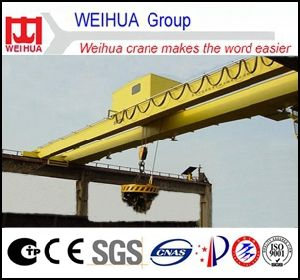 Electromagnetic Double Beam Overhead Crane with Magnetic Disc